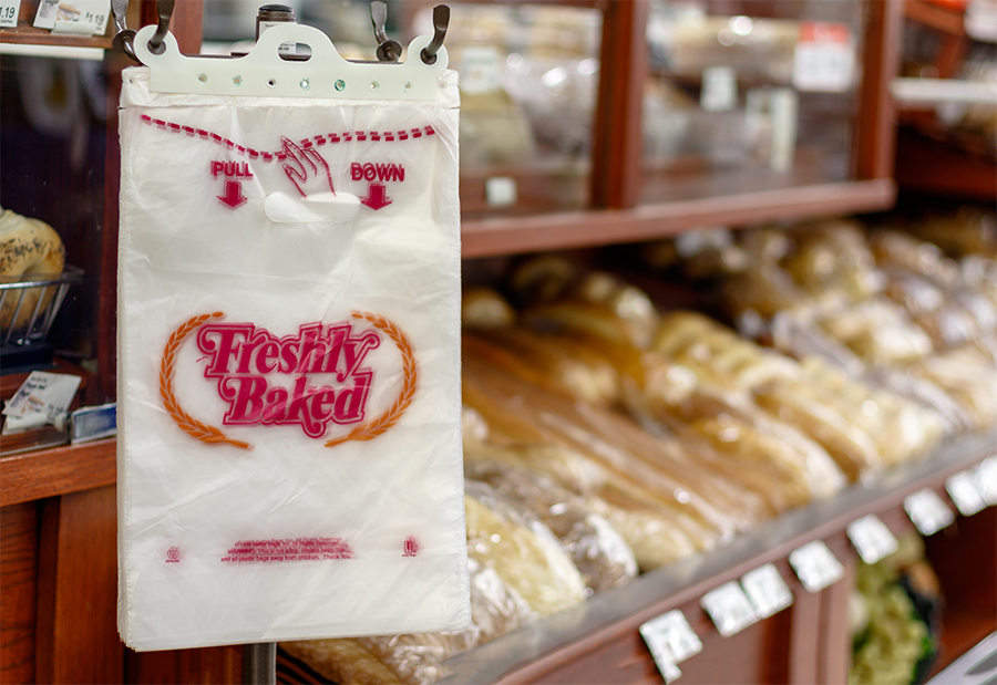 bakery bags on header rack